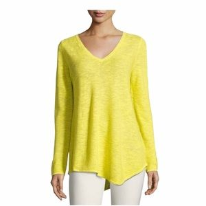 EILEEN FISHER Organic Links Bright Yellow Tunic